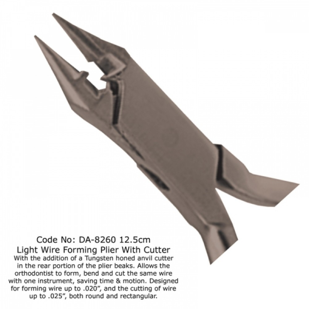 Light Wire Forming Plier With Cutter